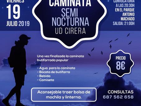 5ta Caminata Semi Nocturna UD Cirera 2019