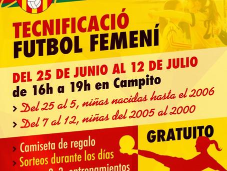 Tecnificación Fútbol Femenino