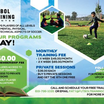 Training Programs Flyer