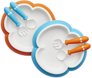 baby-plate-spoon-and-fork-orange-turquoi