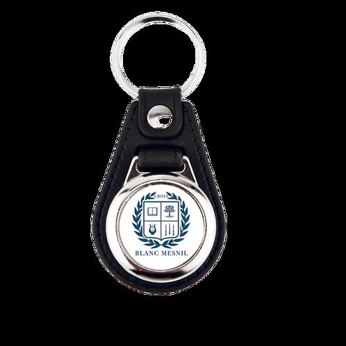Porte-clefs en cuir avec jeton de caddie
