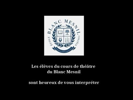 Cours de théâtre | Janvier 2019