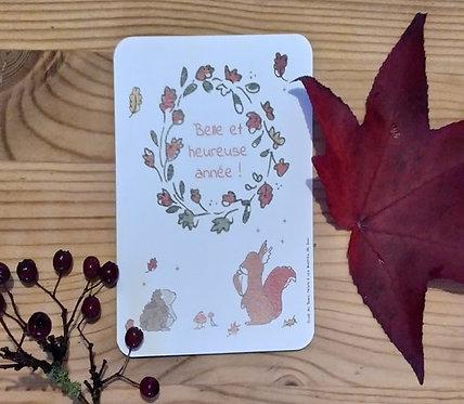 Carte de voeux | Belle et heureuse année