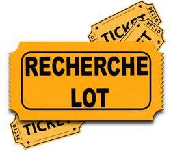 ⚠️ Recherche lots ⚠️