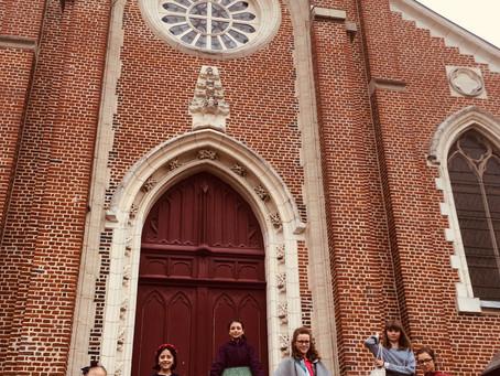 Expérience inédite à Croix, cours de dessin dans l'église Saint Martin!