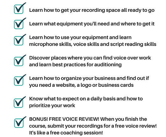 Online course info work from home doing voice overs colourmoves
