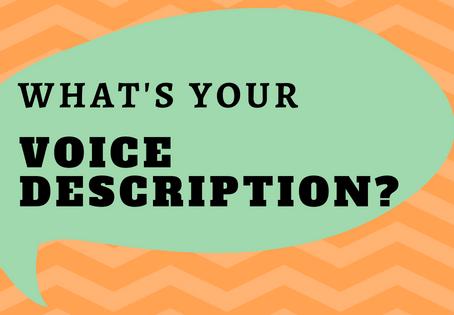 How do you describe your Voice?