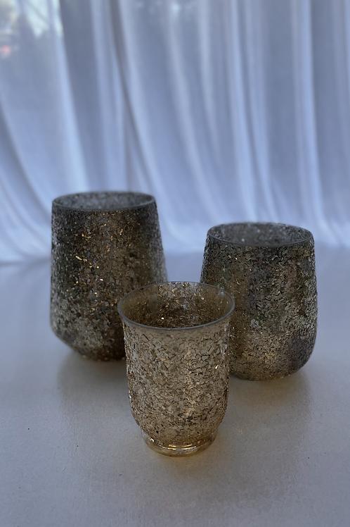 Gold Glass Vases