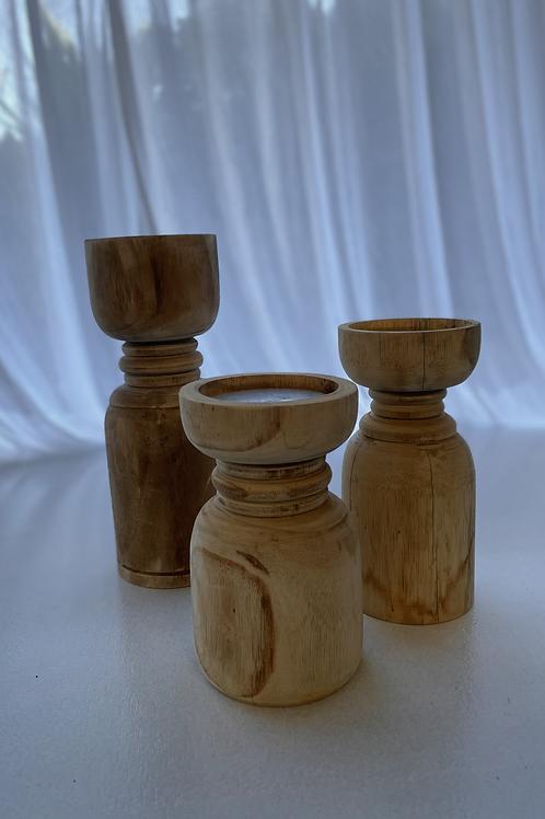 Wooden centrepiece