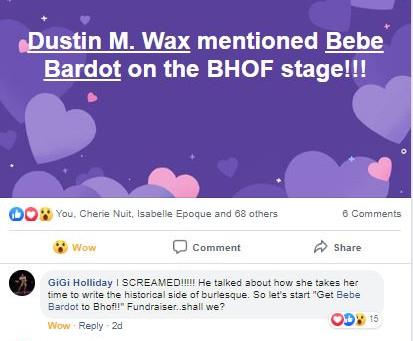 "Introducing Bebe Bardot: OFFICIAL ""Amateur"" Burly Historian!"