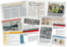 `Parte das reportagens sobre ações da ComCausa