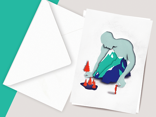 Carte postale Homme des montagnes