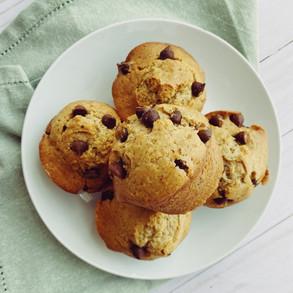 Muffins Veganos de Chispas de Chocolate