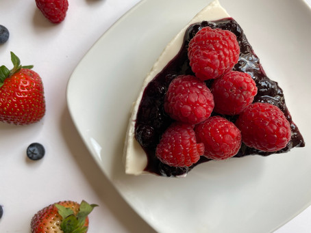 Low Carb Cheesecake + Berries