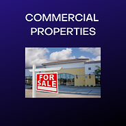 Commercial Properties - photo of a store front with a for sale sign in front of the store.