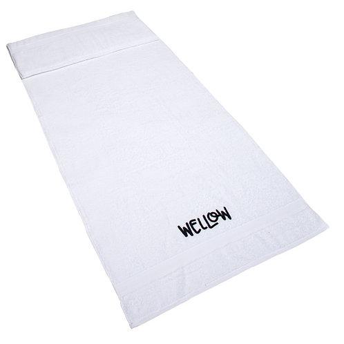 Kissen-Saunahandtuch 70x170cm - Weiß