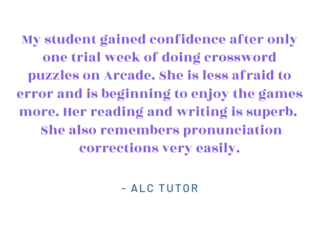 My student gained confidence after only