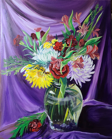 """""""New Year's Bouquet on Purple"""""""