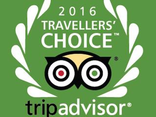 IMIGRANTES HOTEL RECEBE PRÊMIO TRAVELLERS' CHOICE 2016 PELO TRIPADVISOR