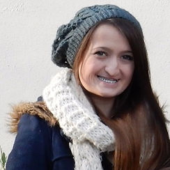 Born with a cleft lip and palate, the image shows Beth at seventeen years old