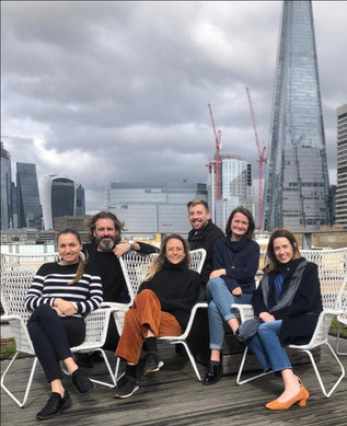 Group shot with one of our programme managers (ft. The Shard)