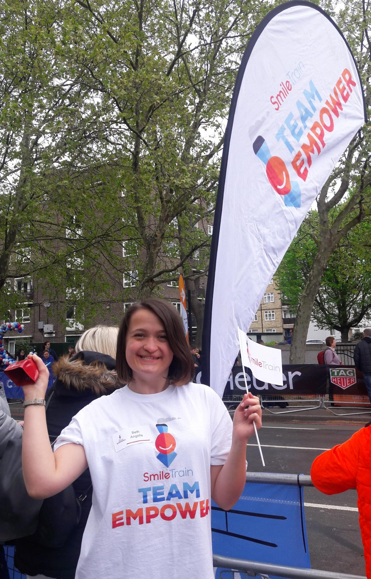 Cheering the London Marathon in 2019