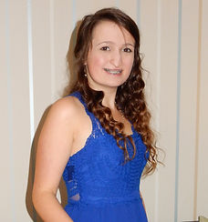 Born with a cleft lip and palate, the image shows Beth at fifteen years old