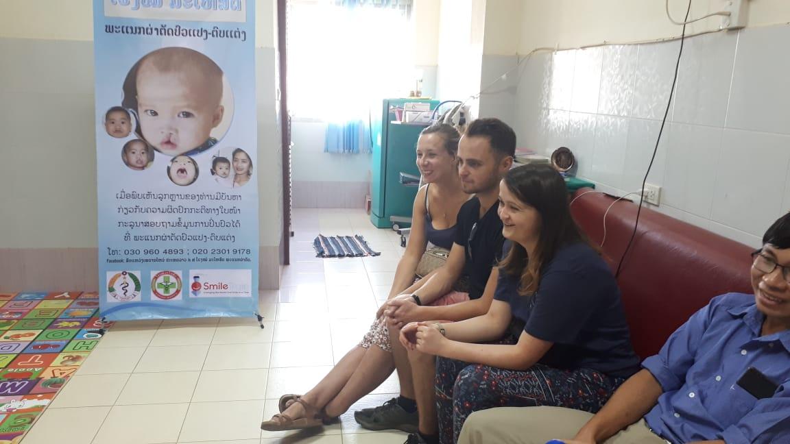 Watching speech therapy training