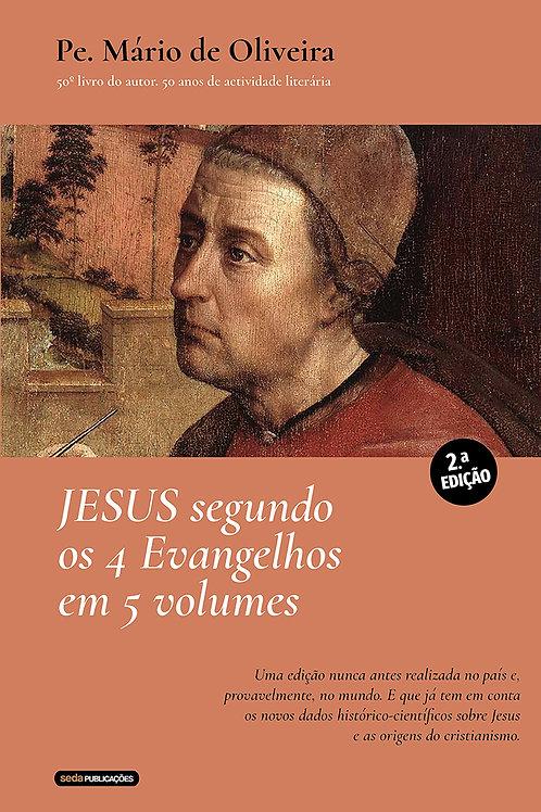 Jesus segundo os 4 Evangelhos em 5 volumes (versão digital)