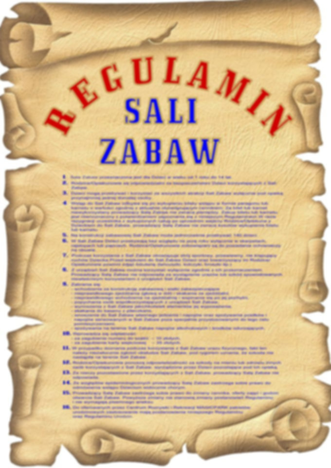regulamin sali zabaw Magic Park Lublin