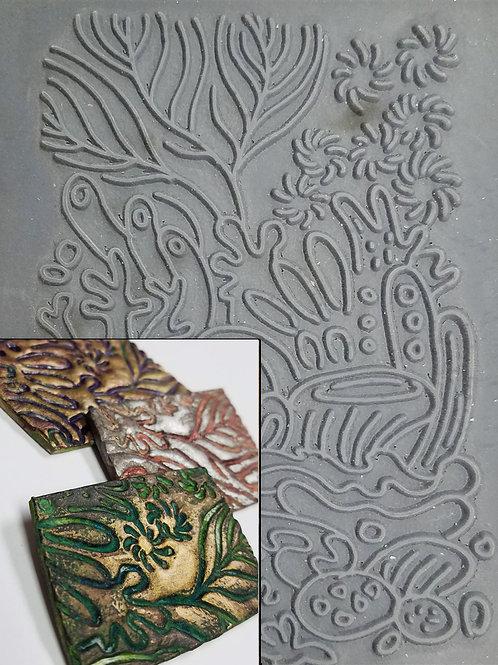 """Coral Reef"" texture stamp"