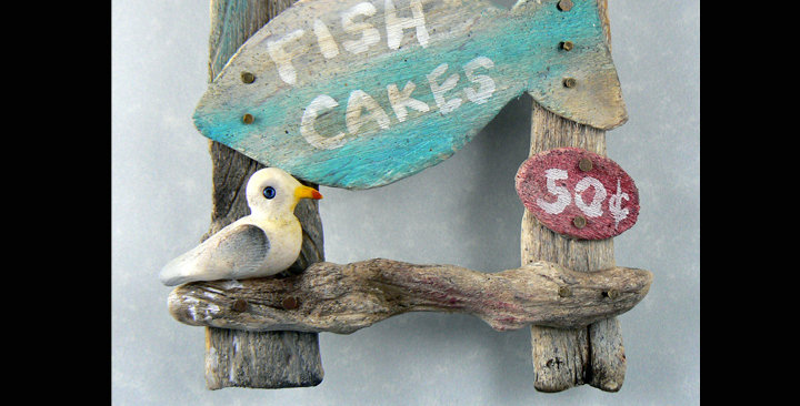 Fish Cakes snack shack sign