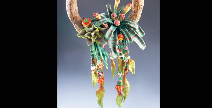 """Rainforest Ring"" hanging sculpture"