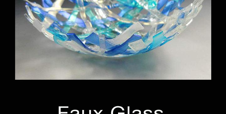 Faux Woven Glass Bowl