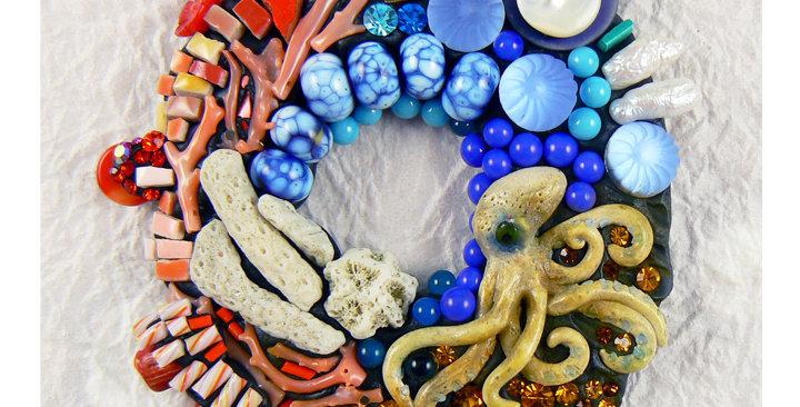 "SOLD Portals series: Coral Reef"" brooch/pendant/wall art"