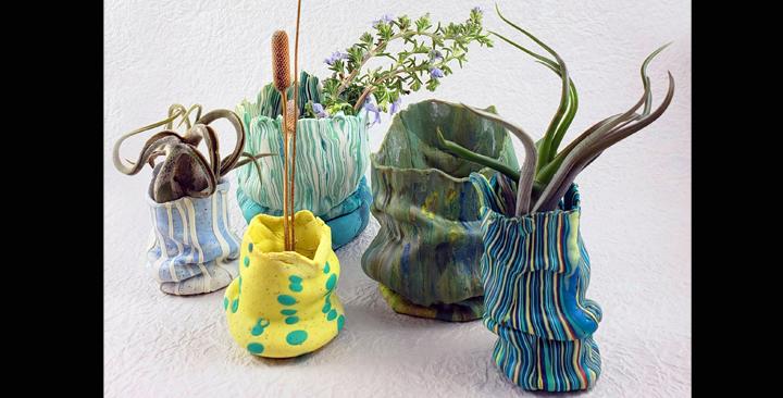 Scrunch Vases