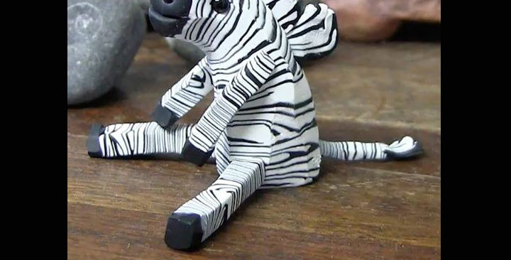 Black and White: Carved Zebra