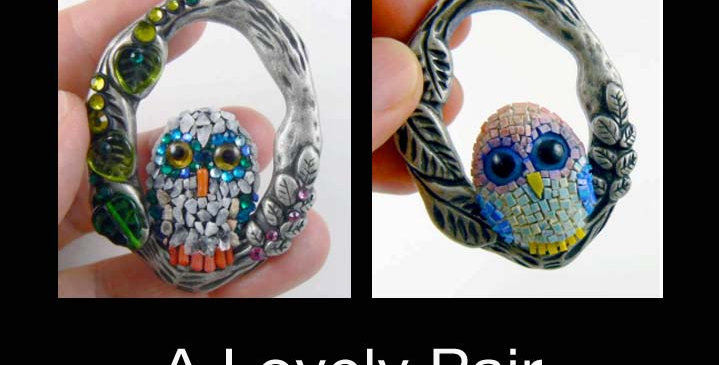 """""""A Lovely Pair of Hooters""""   pendants"""