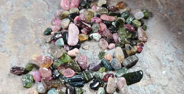 Tourmaline pebbles