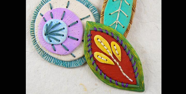 Stitched Up pendants