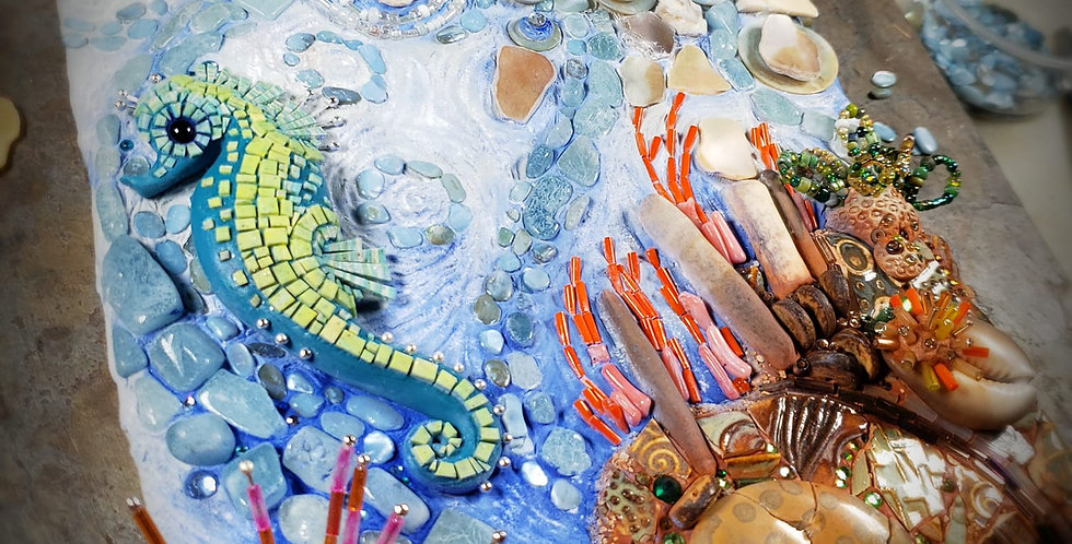 starting Jan. 30: Seahorse Mosaic Magic online video class/group