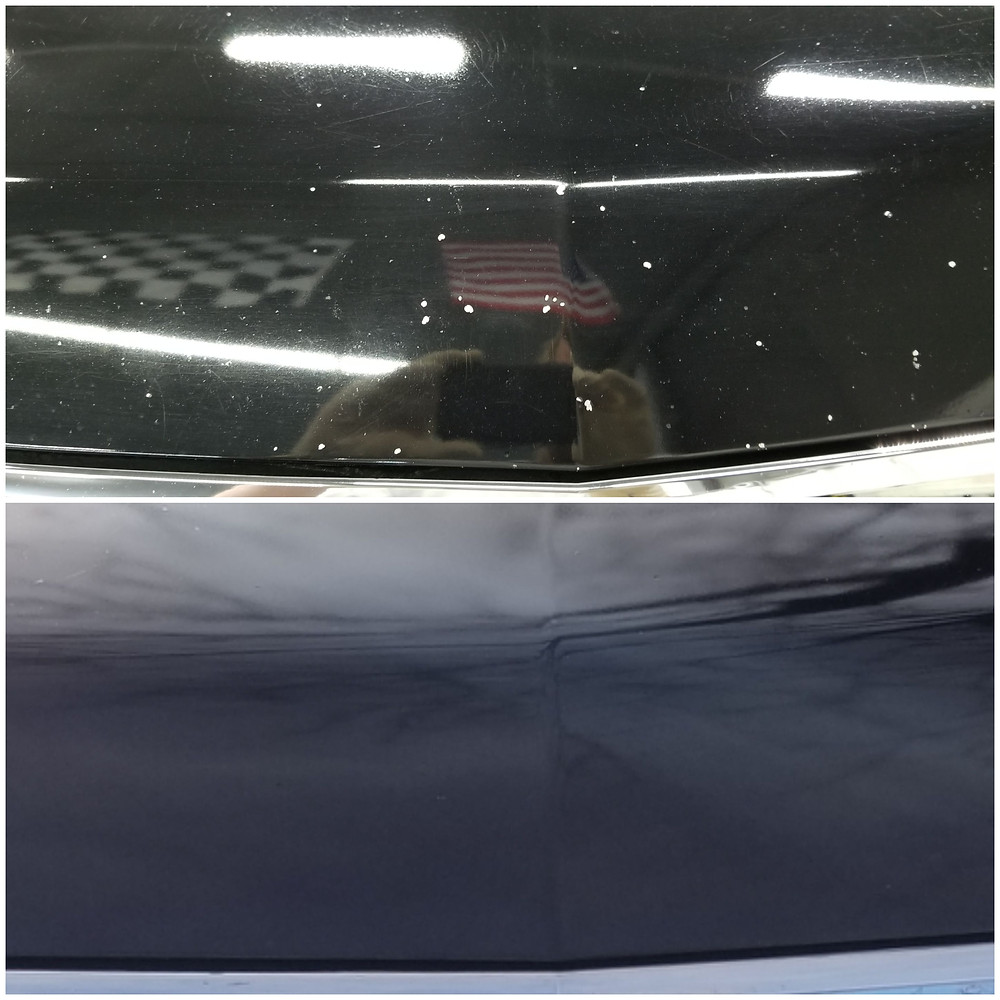 Before and After Touch Up on a Chevy Tahoe