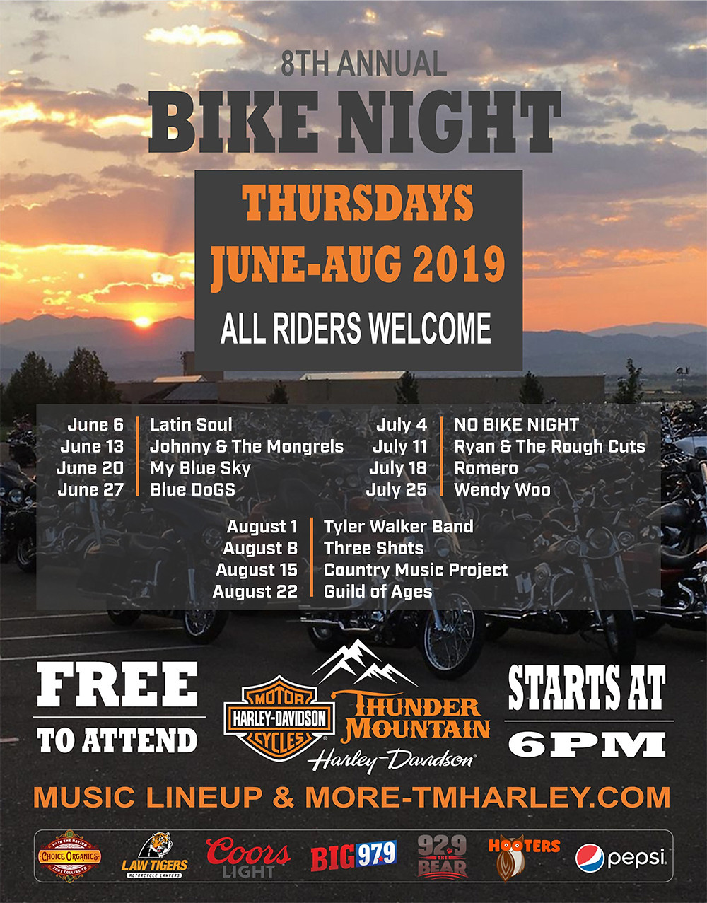 Thunder Mountain Harley Davidson Bike Night