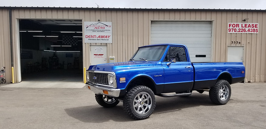 72 Chevy Pickup after ceramic coating