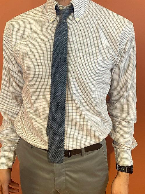 Cravate tressée grise