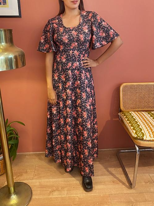 Robe longue à fleurs 70s
