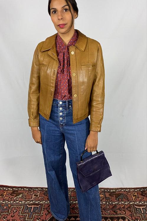 Veste en cuir vintage 90s