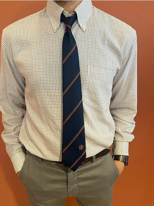 Cravate bleue marine vintage