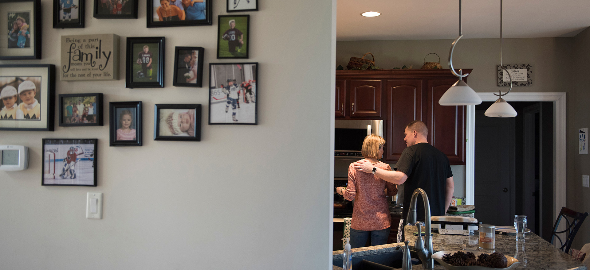 Jamie Barbarich and her husband, Brian Covol, prepare dinner for their sons, Braylan and Layton.