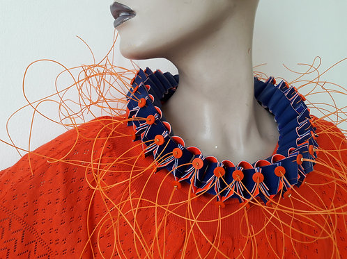 necklace blue + orange